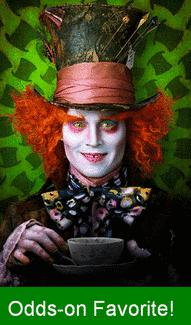 Johnny Depp as Mad Hatter in Tim Burton&#039;s Alice in Wonderland